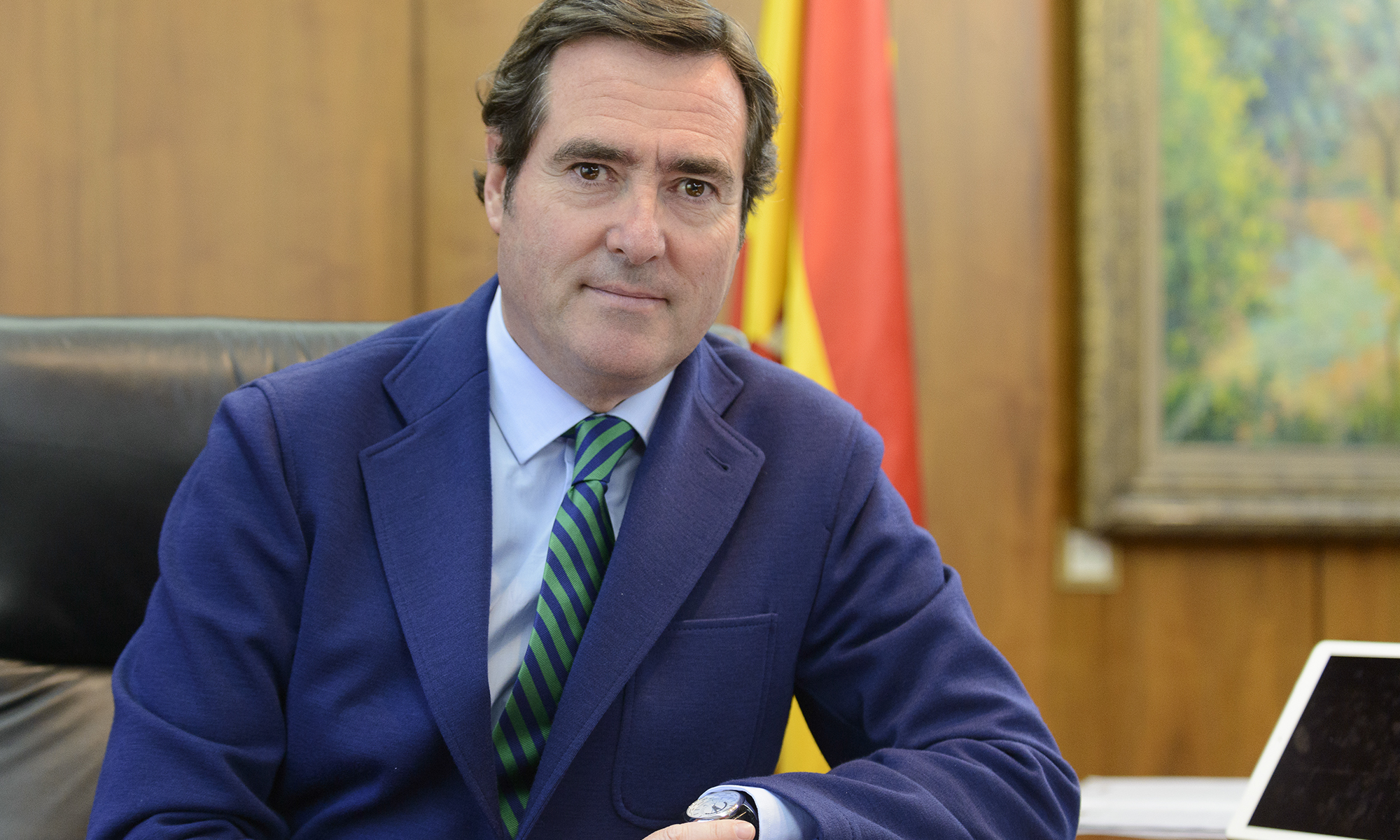 Antonio Garamendi, presidente de CEPYME, foto Alfonso Esteban (STB Estudio)