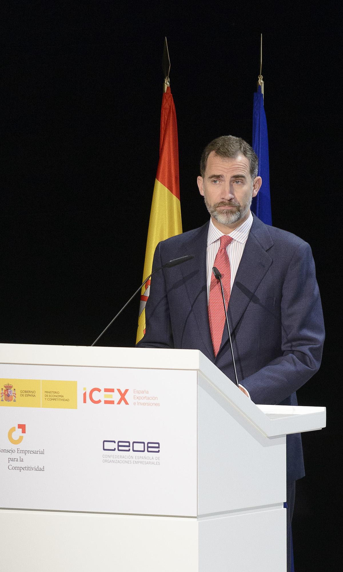 Felipe VI en la jornada de CEOE ICEX, foto Alfonso Esteban (STB Estudio)
