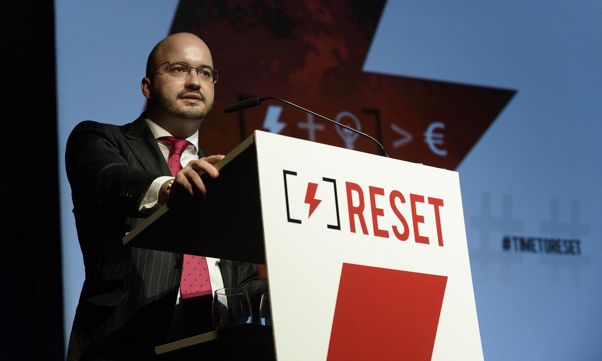 Fermín Albaladejo, presidente de CEAJE en la jornada Time to Reset en Marbella , foto Alfonso Esteban (STB Estudio)